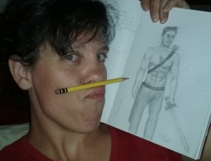 I told you I had a mediocre drawing/art talent and could hold stuff between my lip and nose. Well, here you go. Proof!