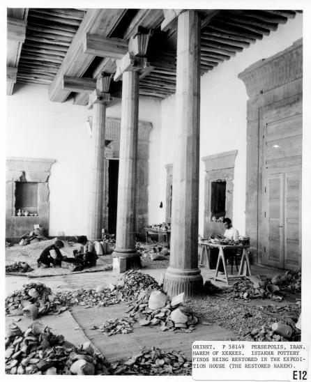 Part of Xerxes Harem at Persa after restoration and used to collect and restore various items at the site.