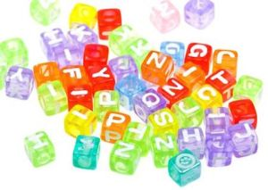 5556476 - abstract colourful alphabet blocks to background