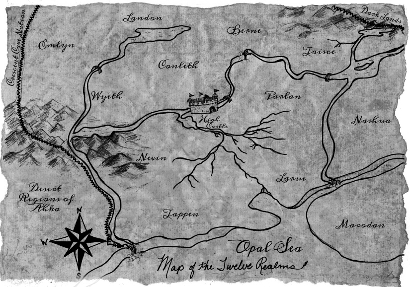 Fictional Map of the Twelve Realms